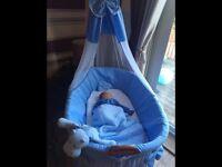 Large baby crib, Moses basket, bassinet