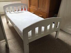 John Lewis Cot Bed and mattress