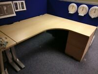 Desk 160cm x 160 cm with 3 drawers