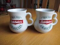 Pair of Batchelors Real Soup Granules Mugs. Made in Staffordshire. Very Good Condition.