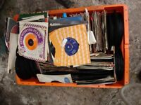 large collection of vinyl singles