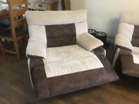LORD 4 Curve Seater & 2 x 1 Seaters Manual Recliners