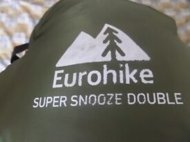 EUROHIKE SLEEPING BAG DOUBLE USED ONE TIME ONLY QUALITY ITEM