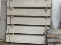 Concrete fence post, gravel boards