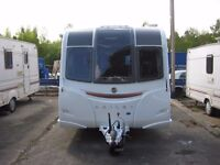 Bailey Unicorn Seville 2 berth caravan 2015. With auto leveling system.