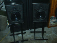 Linn Sara isobaric speakers with Linn stands