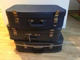 Vintage Suitcases x 3