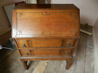 Antique Bureau with 2 Drawers