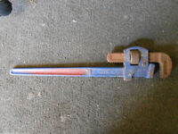 Genuine Record 24 inch STILLSON pipe wrench drop forged steel