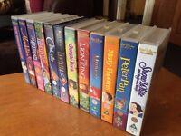 12 Disney VHS Video Tapes lot: Bambi Snow White Lion King Aladdin Peter Pan etc