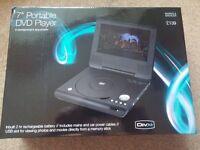 "M&S 7"" Portable DVD Player (Sealed Box)"