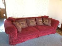 FREE! Large four seater sofa and armchair for sale