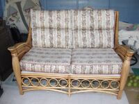 TWO SEATED BAMBOO COUCH