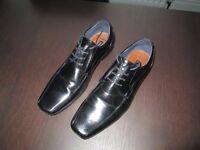 Men's River Island Formal Black Leather shoes (size 11)