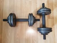 Adjustable Dumbbells - Up To 6KG Each - Like New