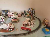 Christmas cocacola holiday village trainset
