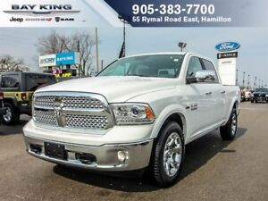 2018 Ram 1500 LARAMIE, 4X4, GPS NAV, SUNROOF, REMOTE START, BLUE