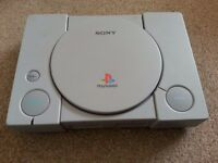 Sony Playstation+cable+console+memory card+games