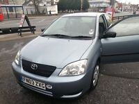 Toyota Corolla 2003 Hip clear 1 lady owner only