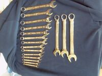 ATORN GERMAN MADE 17 PIECE NEW COMBINATION METRIC SPANNER SET 6mm TO 22mm £35.00 ONO