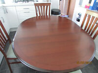 Dining room table & 4 Chairs Mahogany style plus Sideboard made by Morris Furniture Company