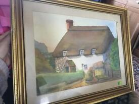 Watercolour framed picture