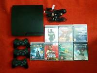 Ps3 320gb with 3 controllers and games