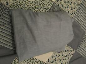Sky blue single fitted sheet