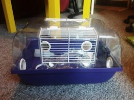 Small hamster cage, food, beeding and loads of accessories