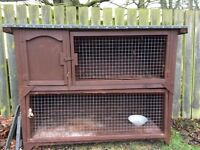 Handmade Two-Story Rabbit/ Guinea Pig Hutch and Rabbit Accessories