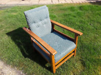 Child's wooden upholstered chair