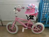 Lovely Girls Bike, helmet, knee and elbow pads.