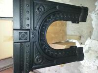 cast iron fireplaces x 3