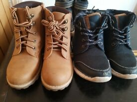 x5 pairs of boys shoes and boots Child size 12