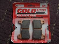 GOLDFREN 214 SINTERED MOTORCYCLE BRAKE PADS (FIT HONDA CB ETC)