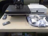 heat press set up