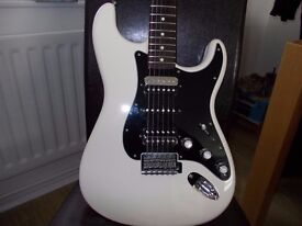 FENDER STRATOCASTER(Mexican)HSH in arctic white sale or swap, p/x for fender telecaster