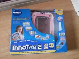 Vtech innotab 2 in pink almost brand new