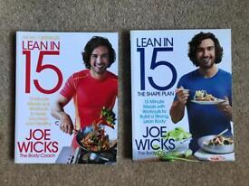 Lean in 15 Joe Wicks cookbooks x2