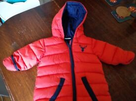 Baby snowsuit boy/girls 6-12 months