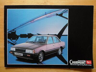DAIHATSU Charmant orig 1982 UK Market sales brochure