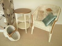 Vintage Chic Collection, Table, Chair, paper/magazine stairs Basket