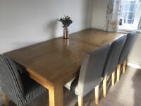 Next Oak Table and dining chairs
