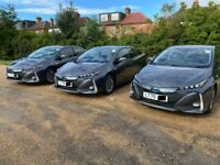 PCO CAR HIRE RENT BRAND NEW 70 REG TOYOTA PRIUS PLUG IN WITH FULLY COMP INSURANCE **UBER READY**