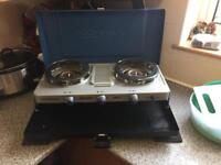 Camping-gaz twin burn stove and grill