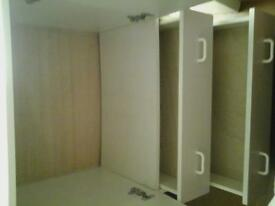 White Double Cupboard with Two drawers