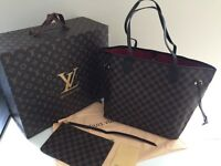 LV Louis Vuitton neverfull tote bag. MM 32cm medium.