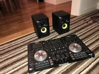 Numark NV Controller with KRK Rokit 4 Speakers