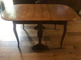 Oak Turned Dropleaf Table