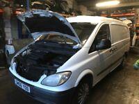 Mercedes Vito 111 cdi lwb spare parts available ecu set interior seats doors difirenaial